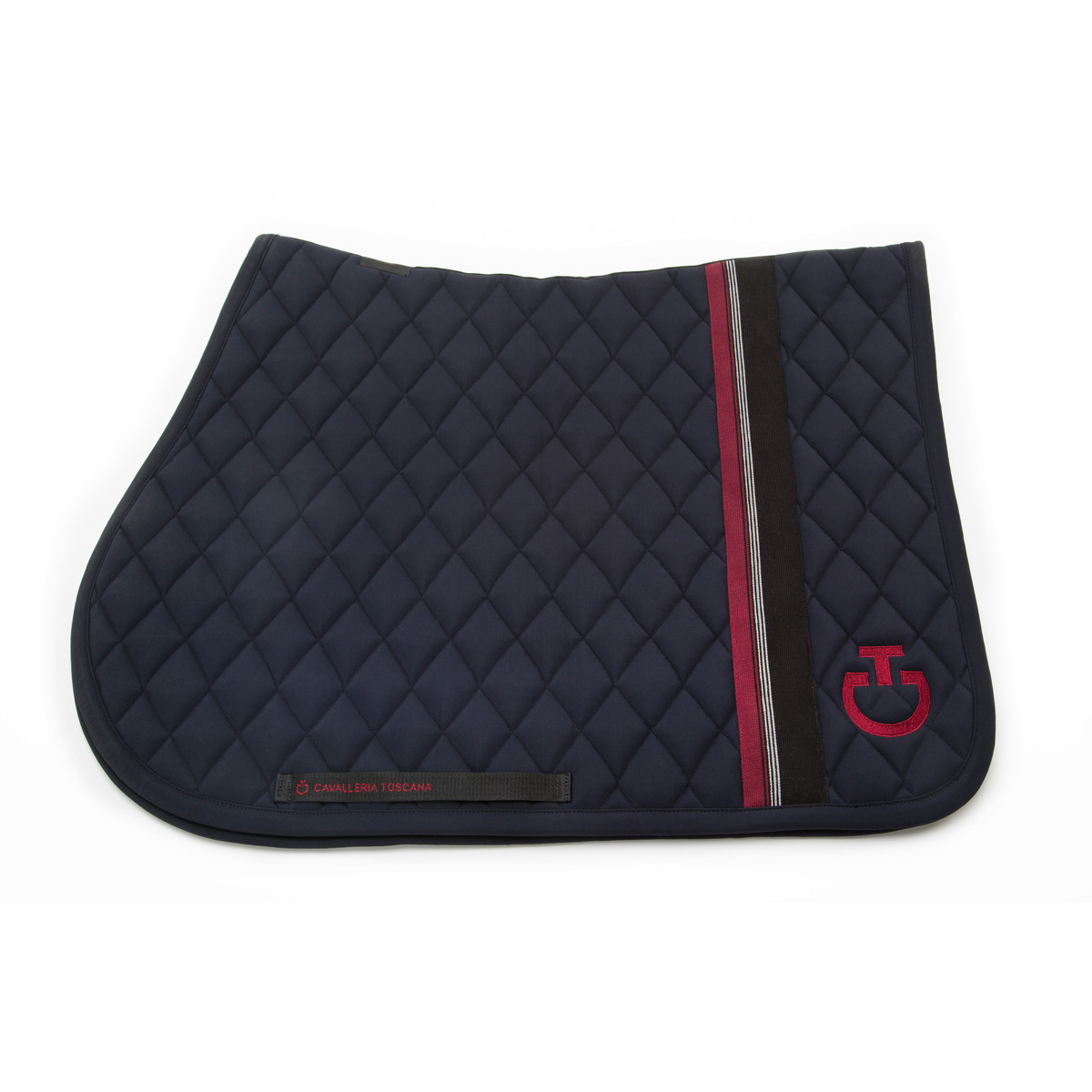 Cavalleria Toscana Embroidered Rhombi Jumping Saddle Pad