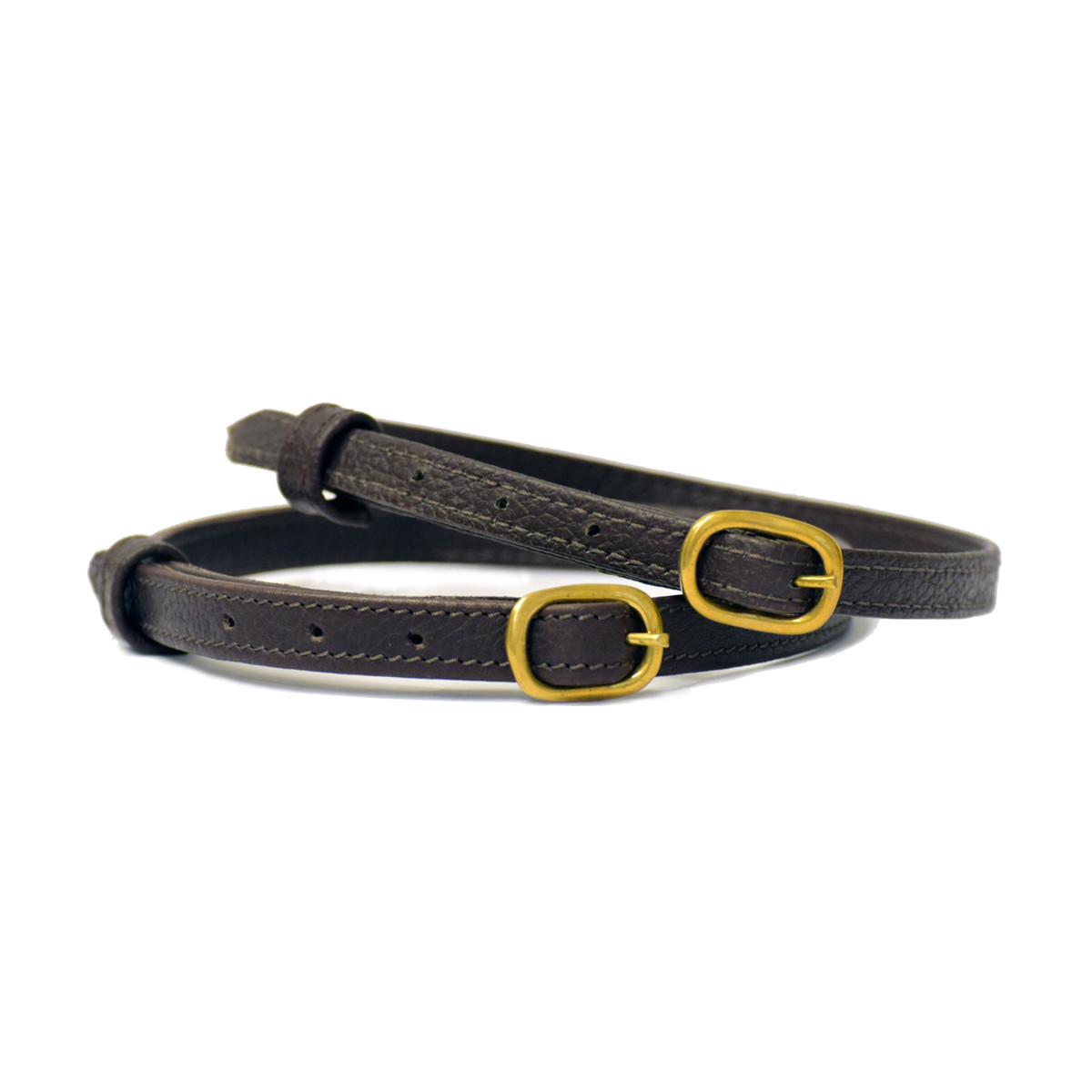 Stübben Spurs Straps Leather Ebony Brass
