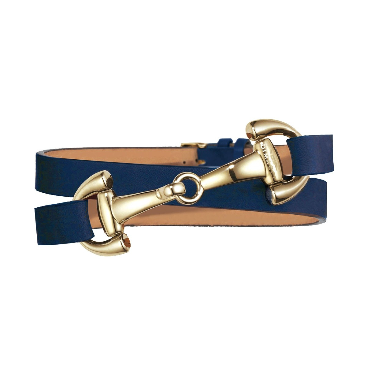 Dimacci Favorit Horse Bit Bracelet Navy Blue | Gold Plated