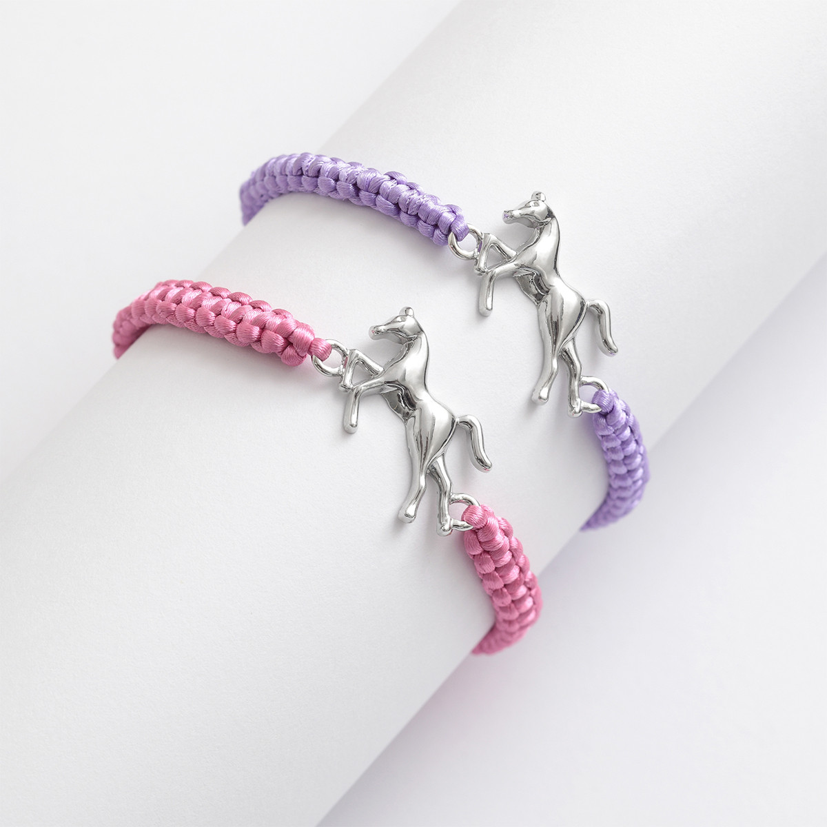 Adjustable Cord Bracelet with Foal