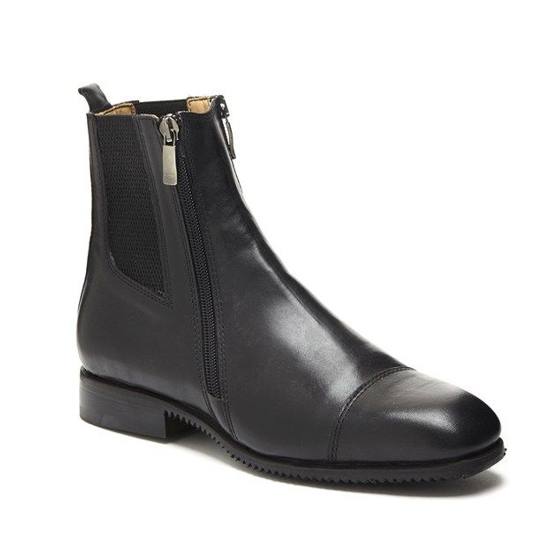Fratelli Fabbri Leather Paddock Boots Double Zip