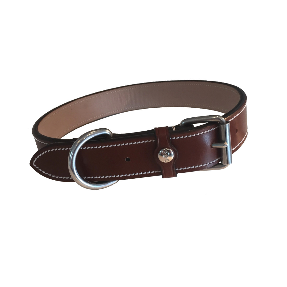 Silver Crown Karl Dog Collar