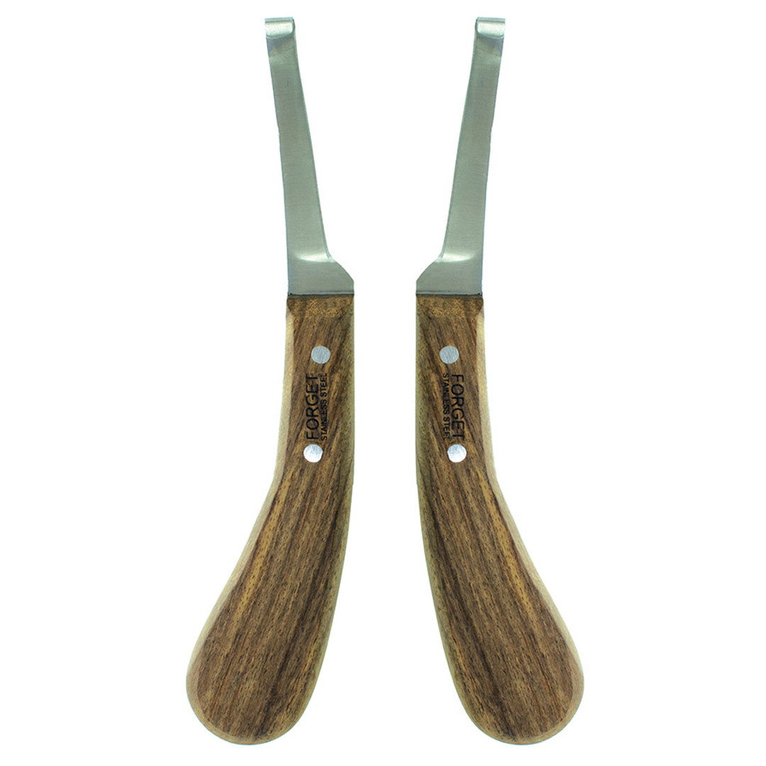 Forget  Hoof Knife with Edge Wooden Handle