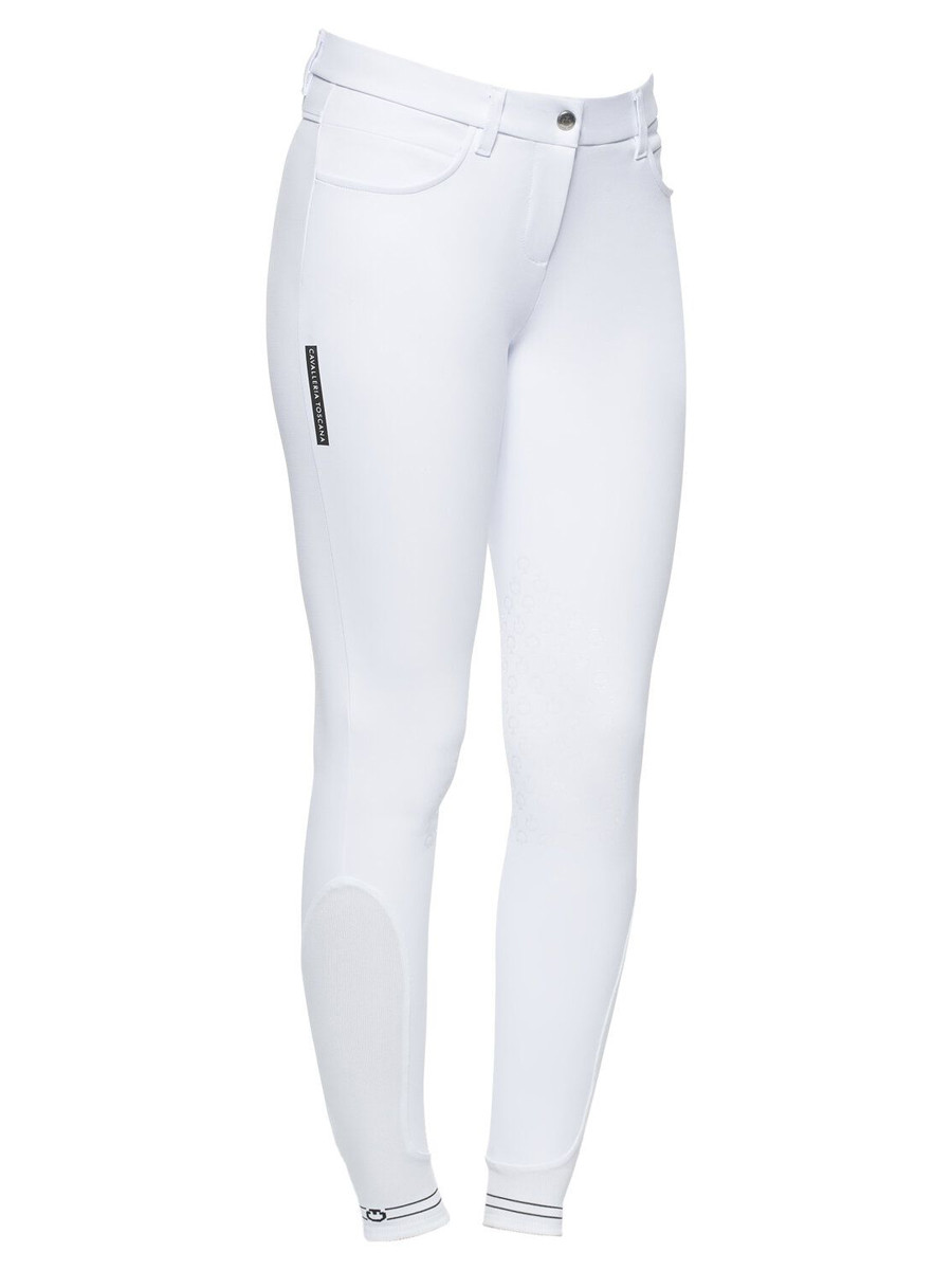 Cavalleria Toscana Women's Knee Grip Breeches With Perforated Logo Tape