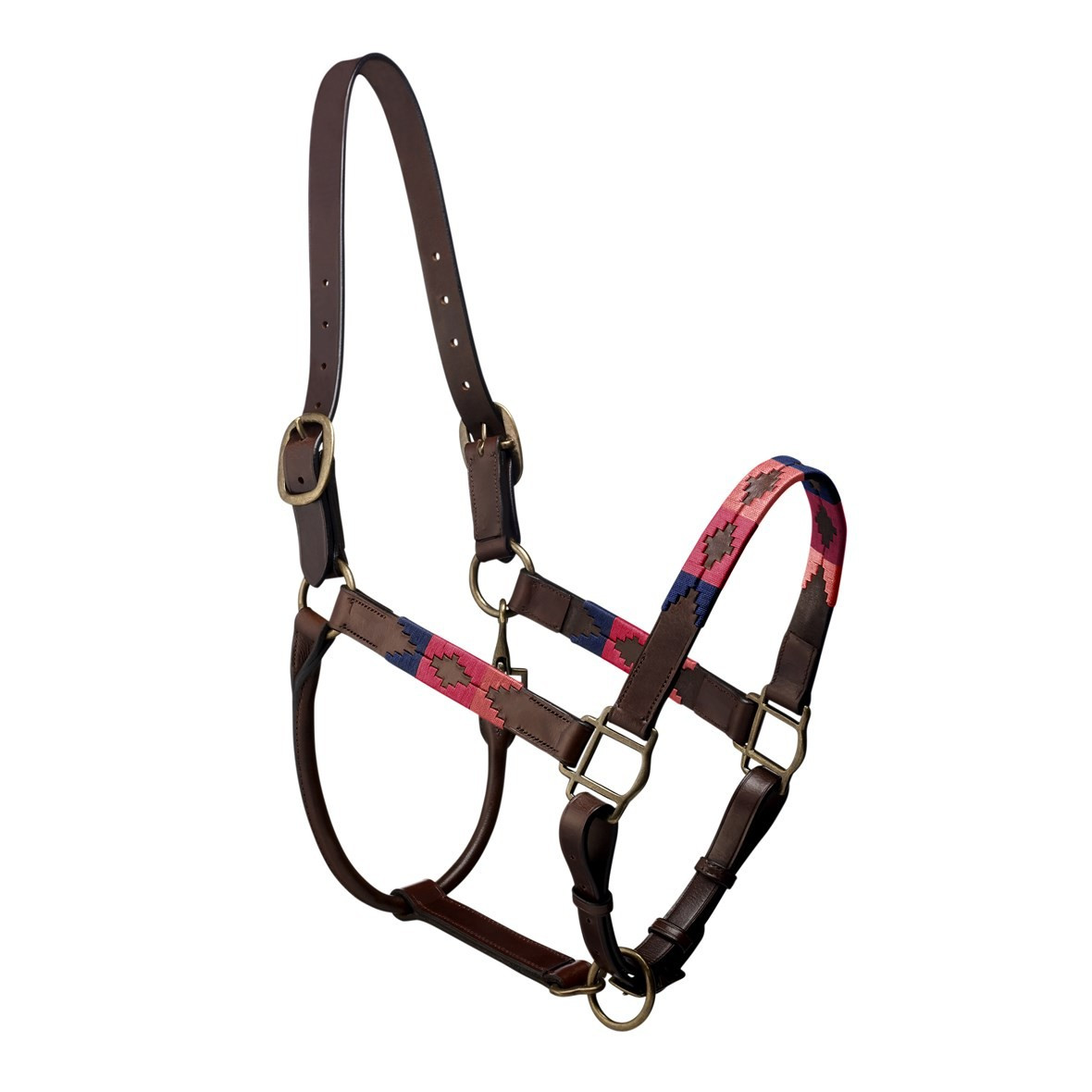Pampeano Pampa Hedcollar Light Pink Fuchsia And Navy Horse