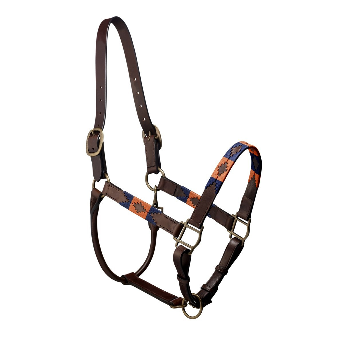Pampeano Pampa Headcollar - Orange and Navy