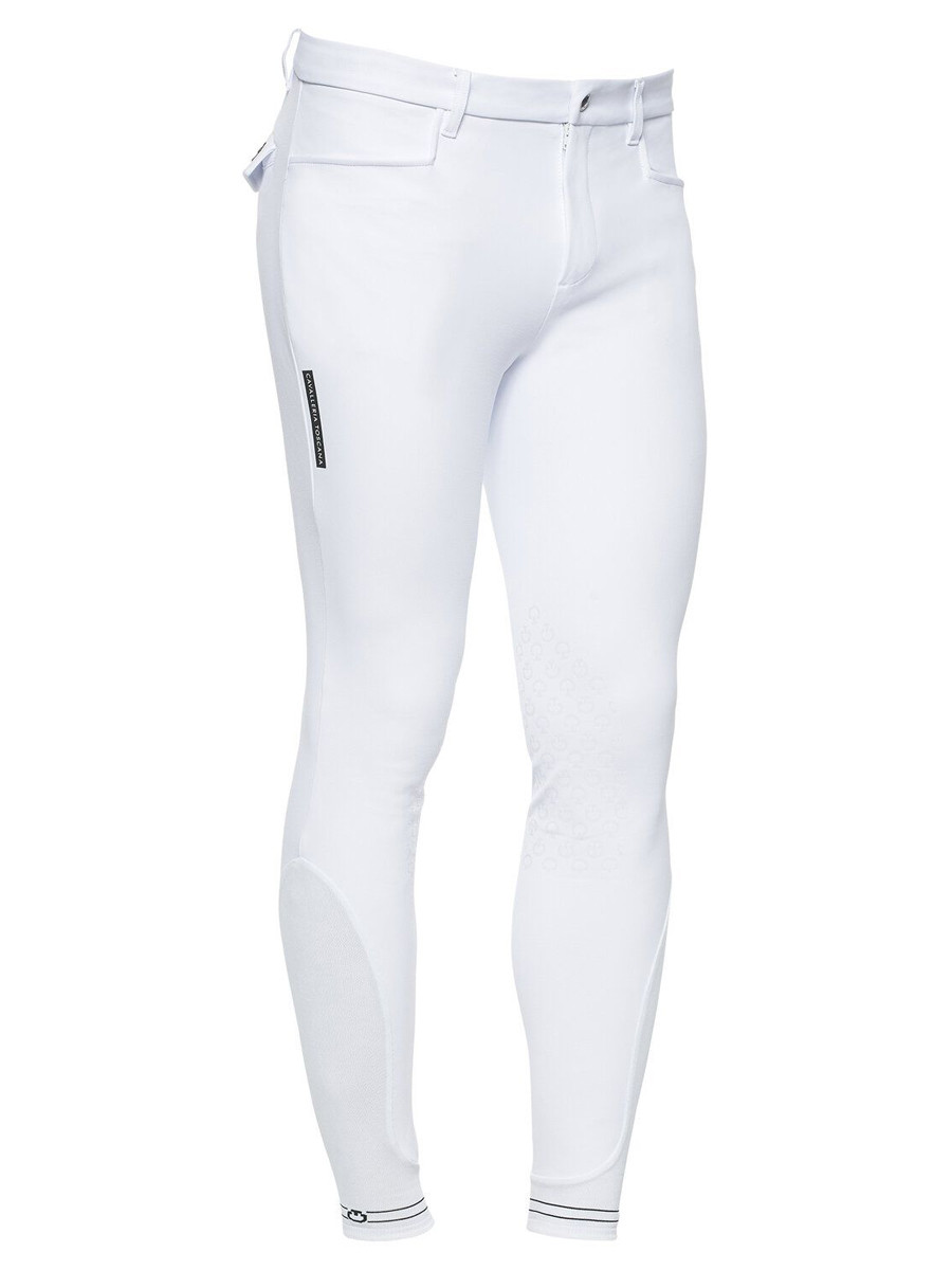 Cavalleria Toscana Men's Knee Grip Breeches With Perforated Logo Tape