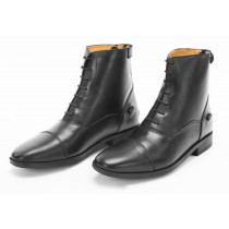 Jodhpur Leather Boots Rare Zip & Front Lace