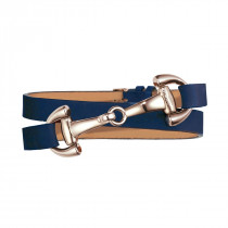 Dimacci Favorit Horse Bit Bracelet Navy Blue | Rose-Gold Plated