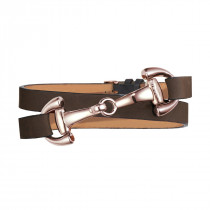 Dimacci Favorit Horse Bit Bracelet Brown | Rose-Gold Plated