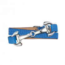 Dimacci Ingrid's Favorites Horse Bit Bracelet Royal Blue | silver