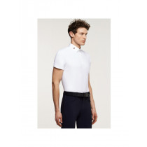 Cavalleria Toscana Men's Perforated Jersey Insert polo
