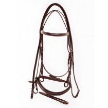 Equestro Stitched  Bridle with Rens