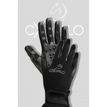 Cxevalo 2-in-1 Grooming and Washing Glove with Massage Nubs