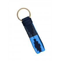 Pampeano Azules Charro Loop Key Ring-Navy Leather