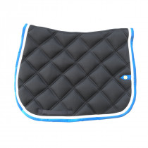 Silver Crown Saddle Pad Double Square Stitching