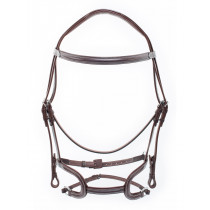 Silver Crown Arezzo Headpiece with H Classic NoseBand