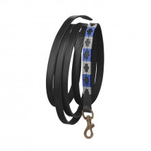 Pampeano Black Pampa Leadrope - Grey and Royal Blue
