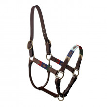Pampeano Pampa Headcollar - Green, Red, Navy, Cream and Light Blue